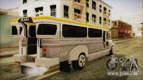 Markshop Jeepney für GTA San Andreas linke Ansicht