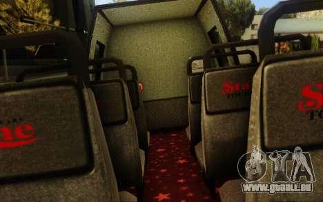 TMZ Tourbus pour GTA San Andreas vue arrière