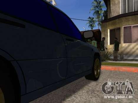 Subaru Forester 1998 pour GTA San Andreas vue de dessous