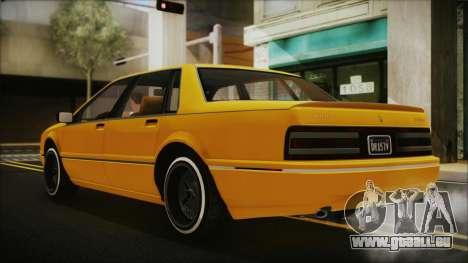 GTA 5 Albany Primo Custom Bobble Version pour GTA San Andreas laissé vue