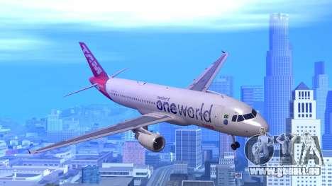Airbus A320-200 TAM Airlines Oneworld für GTA San Andreas