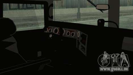 Hummer H1 Limo 6x6 pour GTA San Andreas sur la vue arrière gauche