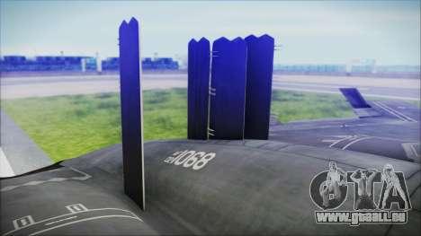 B-2A Spirit Stealth Bomber für GTA San Andreas zurück linke Ansicht