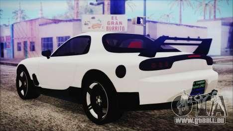 Mazda RX-7 Enhanced Version pour GTA San Andreas laissé vue