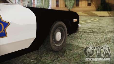 Dodge Monaco 1974 SFPD pour GTA San Andreas sur la vue arrière gauche