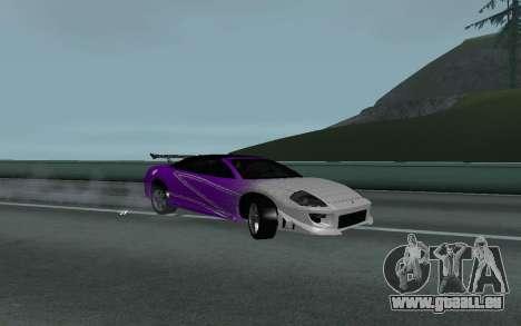 Mitsubishi Eclipse GTS Tunable pour GTA San Andreas vue de droite