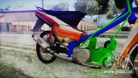 Supra X pour GTA San Andreas vue de droite