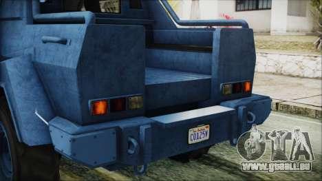 GTA 5 HVY Insurgent Pick-Up IVF für GTA San Andreas obere Ansicht
