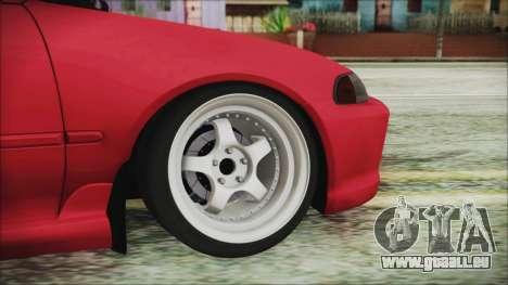 Honda Civic EG6 Hellaflush für GTA San Andreas zurück linke Ansicht