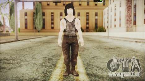 Rambo Shirt pour GTA San Andreas deuxième écran