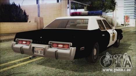 Dodge Monaco 1974 LVPD IVF pour GTA San Andreas laissé vue