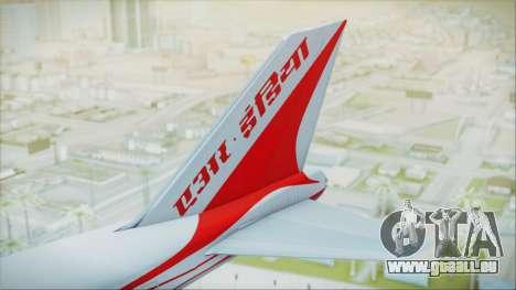 Boeing 747-237Bs Air India Samudragupta für GTA San Andreas zurück linke Ansicht