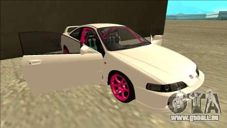 Honda Integra Drift pour GTA San Andreas vue de dessous