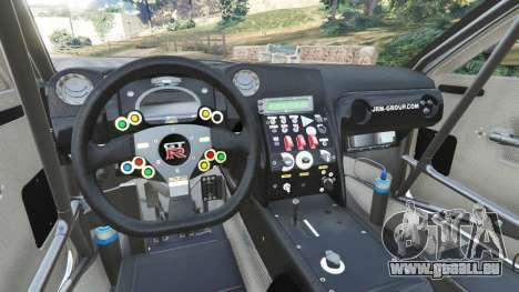 GTA 5 Nissan GT-R Nismo GT3 hinten rechts