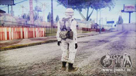 World In Conflict US Marine Winter pour GTA San Andreas troisième écran
