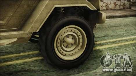 GTA 5 HVY Insurgent Pick-Up pour GTA San Andreas sur la vue arrière gauche