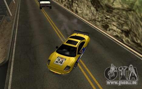 Mitsubishi Eclipse GTS Tunable pour GTA San Andreas vue de côté