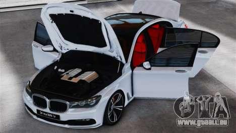 BMW 7-er 2016 v2.0 für GTA 4 hinten links Ansicht