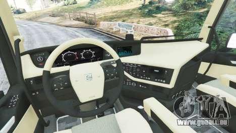 GTA 5 Volvo FH 750 2014 arrière droit vue de côté
