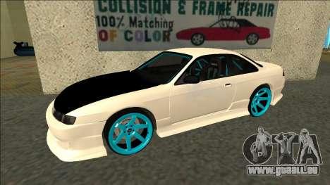 Nissan Silvia S14 Drift für GTA San Andreas linke Ansicht