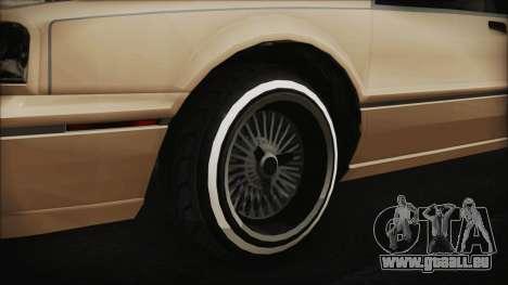 GTA 5 Albany Primo Custom IVF pour GTA San Andreas sur la vue arrière gauche