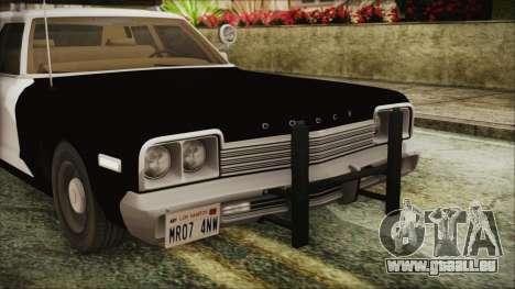 Dodge Monaco 1974 SFPD IVF für GTA San Andreas Innenansicht