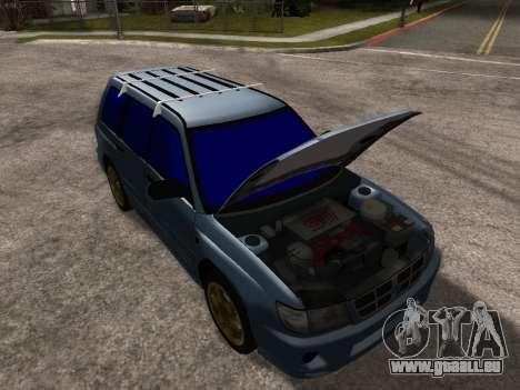 Subaru Forester 1998 pour GTA San Andreas moteur