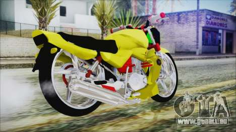 Yamaha Tuning Full Cromo pour GTA San Andreas laissé vue