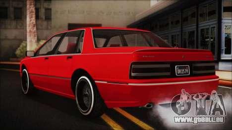 GTA 5 Albany Primo Custom No Interior pour GTA San Andreas laissé vue