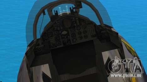McDonnell Douglas F-4N Hellenic Air Force pour GTA San Andreas vue arrière