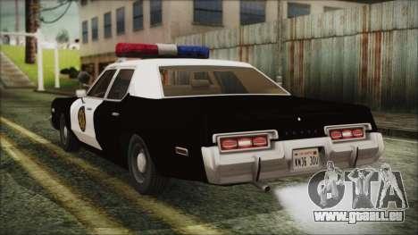Dodge Monaco 1974 LVPD pour GTA San Andreas laissé vue