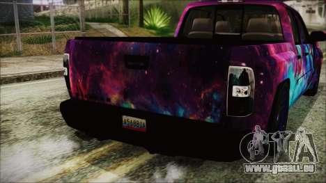 GMC Sierra Galaxy für GTA San Andreas Rückansicht