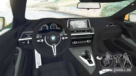 GTA 5 BMW M6 2013 hinten rechts