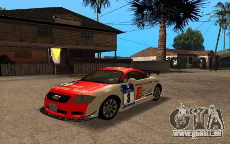Audi TT 2004 Tunable für GTA San Andreas Rückansicht