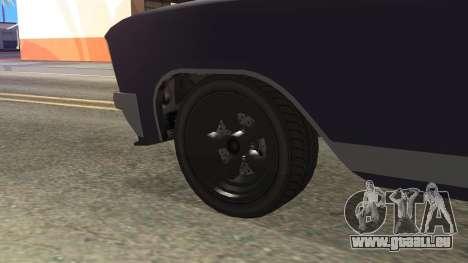GTA 5 Albany Lurcher Cabrio Style pour GTA San Andreas sur la vue arrière gauche