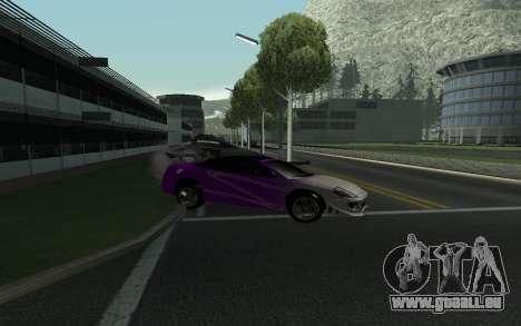Mitsubishi Eclipse GTS Tunable pour GTA San Andreas vue intérieure