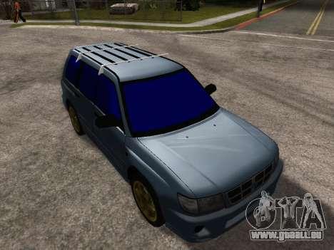 Subaru Forester 1998 pour GTA San Andreas salon