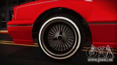 GTA 5 Albany Primo Custom No Interior pour GTA San Andreas sur la vue arrière gauche