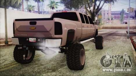 Chevrolet Silverado Triple Door pour GTA San Andreas laissé vue