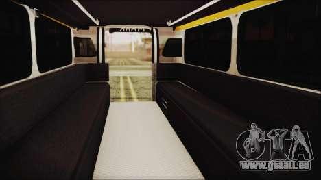 Markshop Jeepney für GTA San Andreas Rückansicht