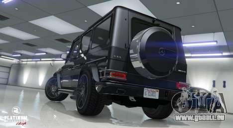 GTA 5 Mercedes-Benz G63 AMG v1 Rückansicht