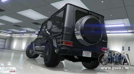 GTA 5 Mercedes-Benz G63 AMG v1 vue arrière