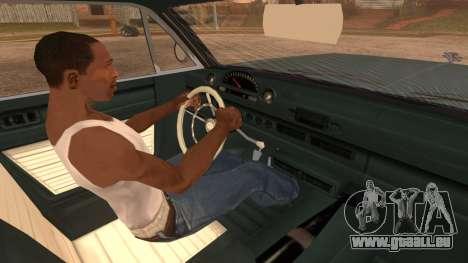 GTA 5 Declasse Clean Voodoo IVF pour GTA San Andreas sur la vue arrière gauche