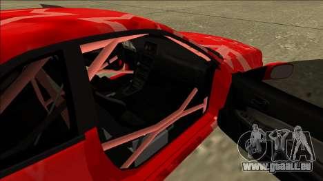 Nissan Skyline R34 Drift Red Star für GTA San Andreas Rückansicht