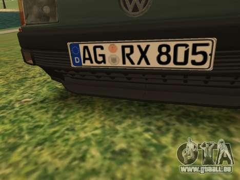 Volkswagen Passat B3 für GTA San Andreas Unteransicht