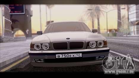 BMW 7-er E38 pour GTA San Andreas sur la vue arrière gauche