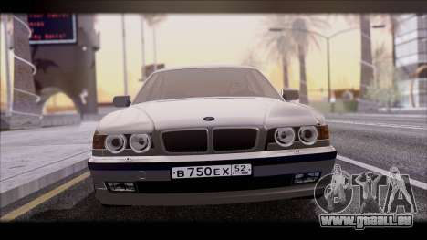 BMW 7-er E38 für GTA San Andreas zurück linke Ansicht