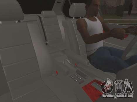 BMW 535i pour GTA San Andreas vue intérieure