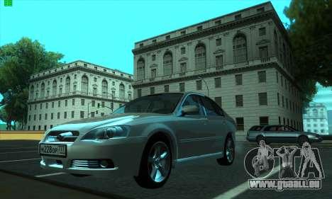Subaru Legacy pour GTA San Andreas laissé vue