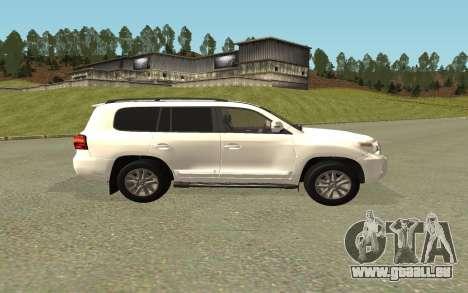 Toyota Land Cruiser 200 Bulkin Edition pour GTA San Andreas sur la vue arrière gauche